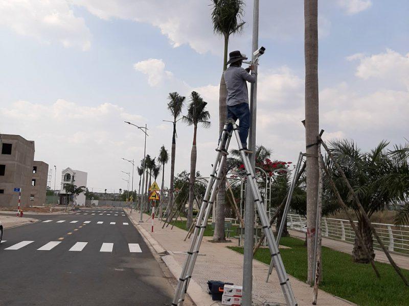 Hình ảnh: Hệ thống camera an ninh trực thuộc khu vực khuôn viên đã được hoàn thiện.