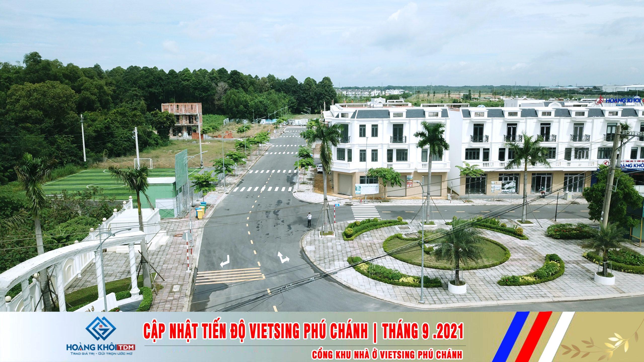 Tiến độ khu nhà ở VietSing phú chánh